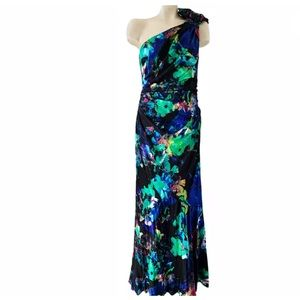 Rickie Freeman for Teri Jon Dresses - RICKIE FREEMAN TERI JON STRETCH SILK TRUMPET GOWN